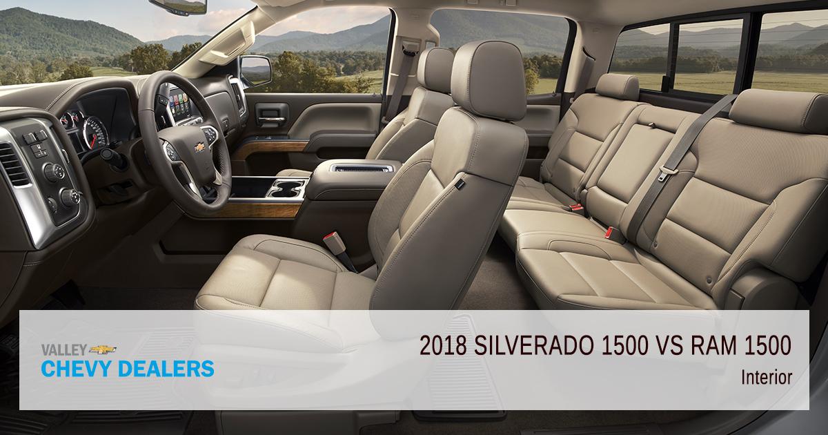 Valley Chevy - 2018 Chevrolet Silverado 1500 vs Dodge RAM 1500 Pickup - Interior