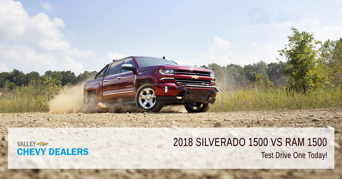Valley Chevy - 2018 Chevrolet Silverado 1500 vs Dodge RAM 1500 Pickup - Test Drive