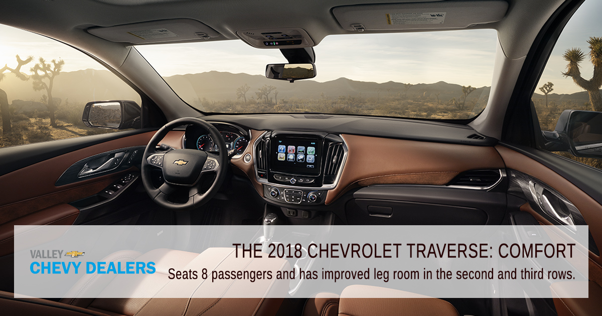 Valley Chevy Phoenix - 2018 Chevrolet Traverse: Find Out What's New - Comfort