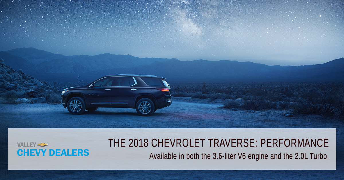Valley Chevy Phoenix - 2018 Chevrolet Traverse: Find Out What's New - Performance