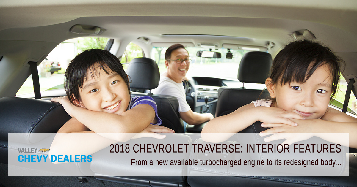 Valley Chevy in Phoenix: 2018 Chevrolet Traverse Interior Features