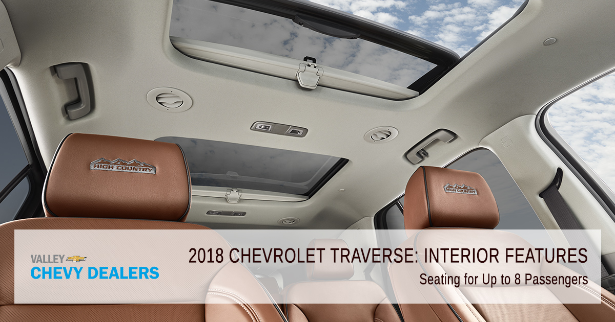 Valley Chevy in Phoenix: 2018 Chevrolet Traverse Interior Feature - 8 Passengers