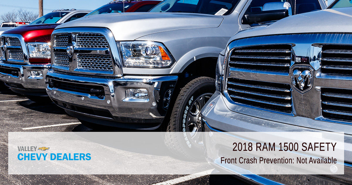 Valley Chevy - 2018 Dodge RAM Safety - No Front Crash Prevention