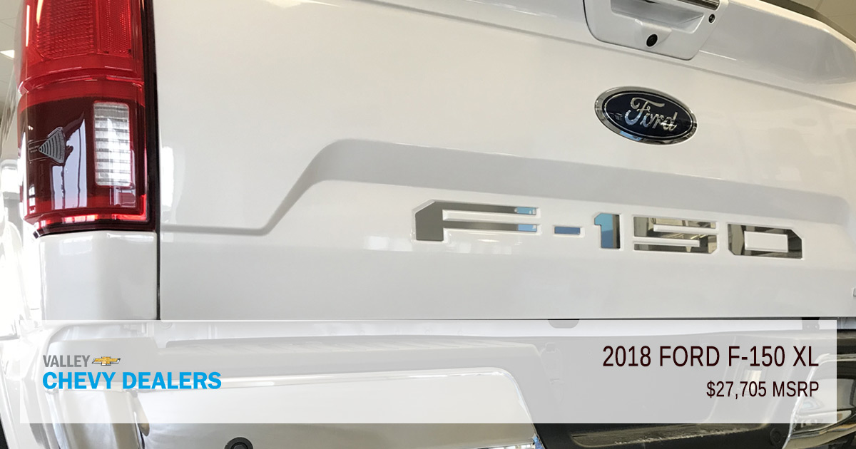 Valley Chevy - 2018 Ford F-150 XLT vs XL - XL MSRP