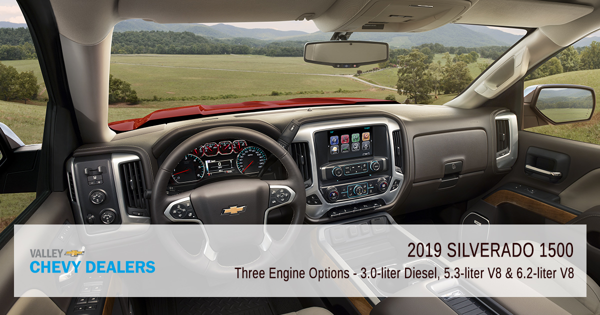Valley Chevy - 2019 Silverado 1500 Revamped - Engine Options