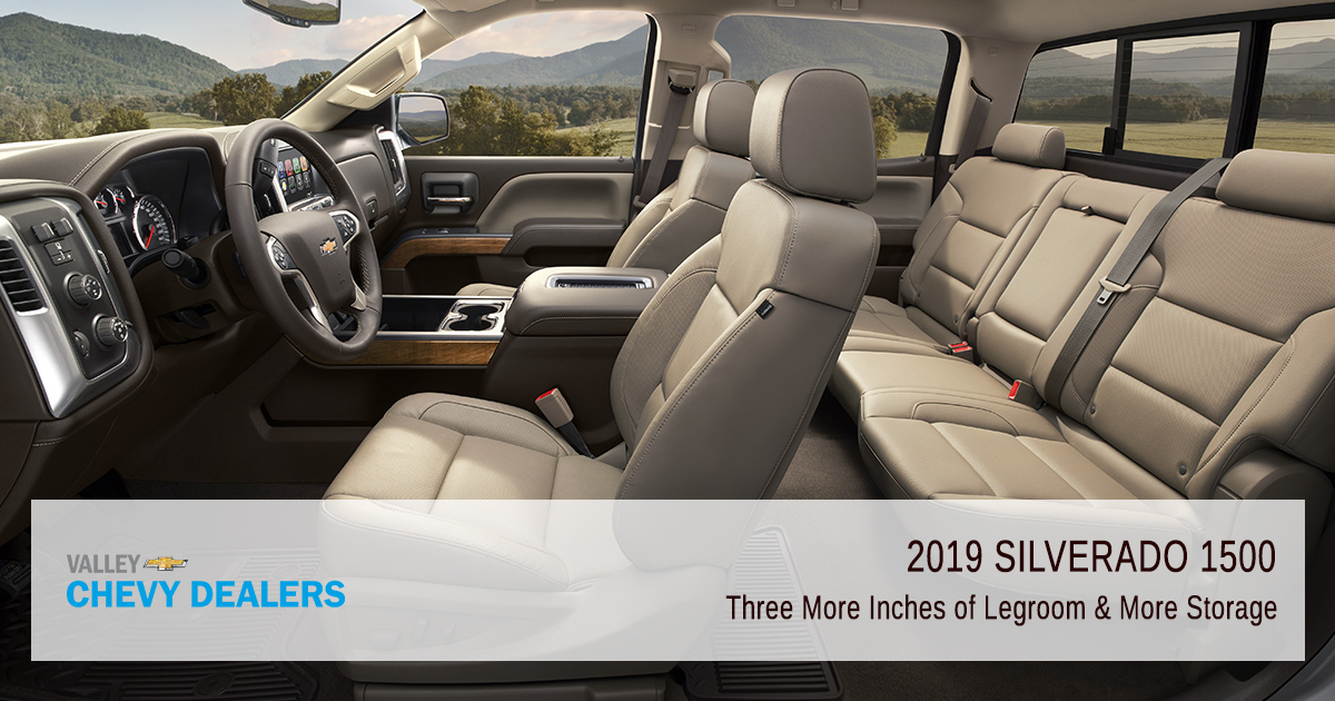 Valley Chevy - 2019 Silverado 1500 Revamped - Legroom