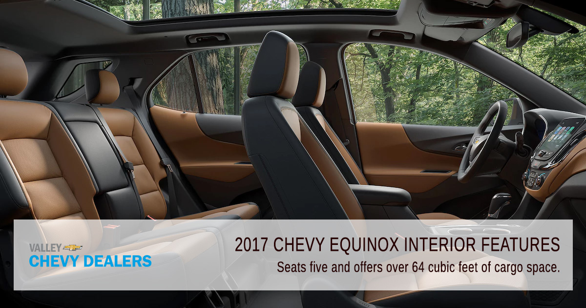 Valley Chevrolet Phoenix Chevy 2017 Equinox Interior Features Seating