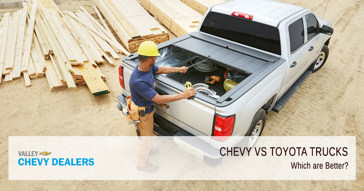 Valley Chevy - Chevrolet vs Toyota Trucs - Which are Better - Featured