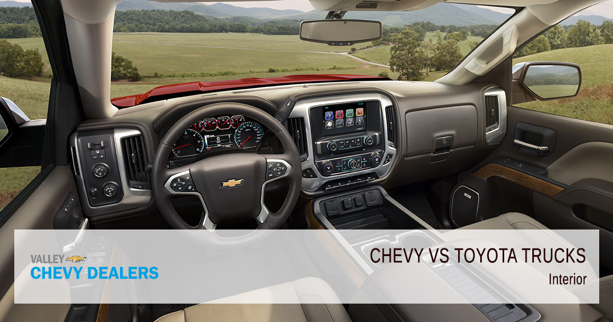 Valley Chevy - Chevrolet vs Toyota Trucs - Which are Better - Interior