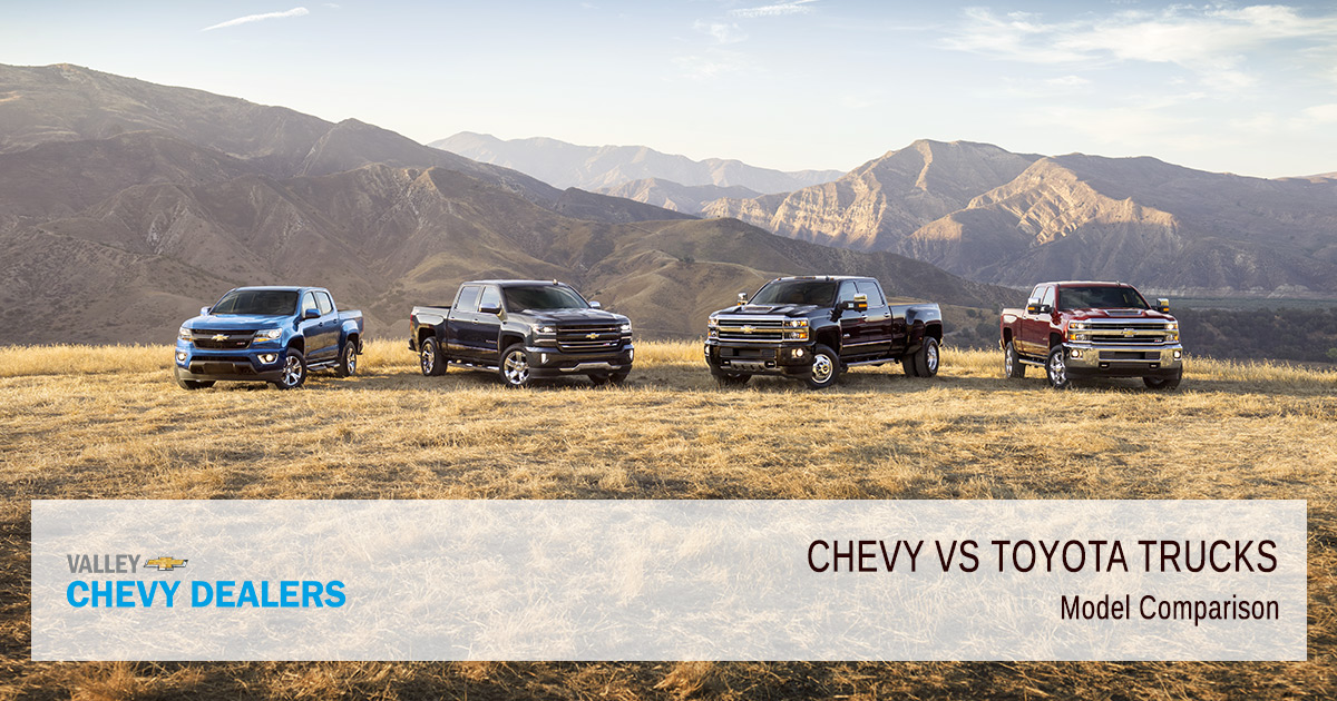 Valley Chevy - Chevrolet vs Toyota Trucs - Which are Better - Models
