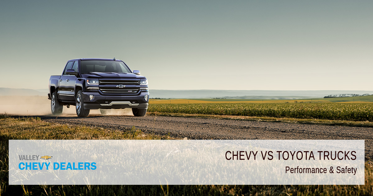 Valley Chevy - Chevrolet vs Toyota Trucs - Which are Better - Performance
