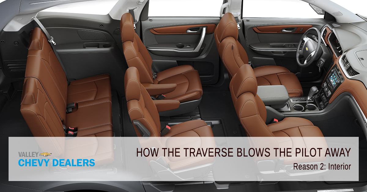 5 Ways the Chevy Traverse Blows the Honda Pilot Away | Valley Chevy