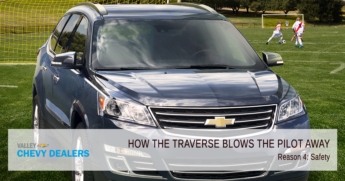 Valley Chevrolet - How the Traverse Blows the Honda Pilot Away: Safety