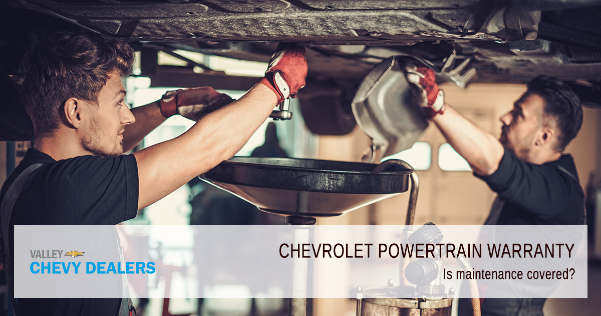 Valley Chevy - What Does a Chevrolet Powertrain Warranty Cover - Is Maintenance Covered?