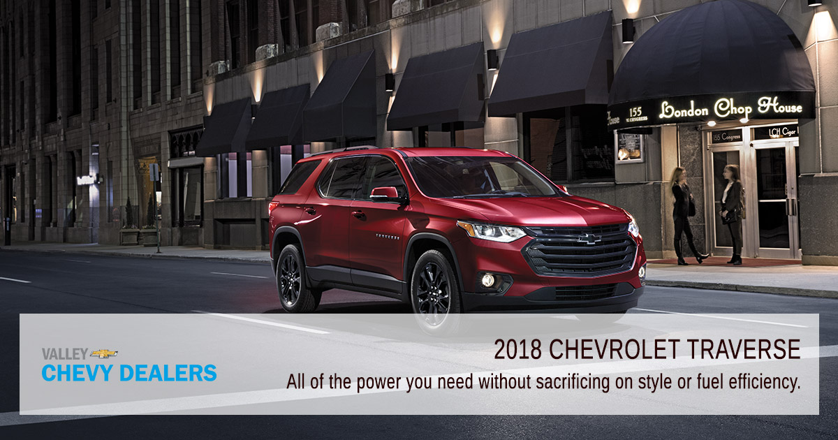Valley Chevy Phoenix - 2018 Chevrolet Traverse MPG & Fuel Efficiency: Power