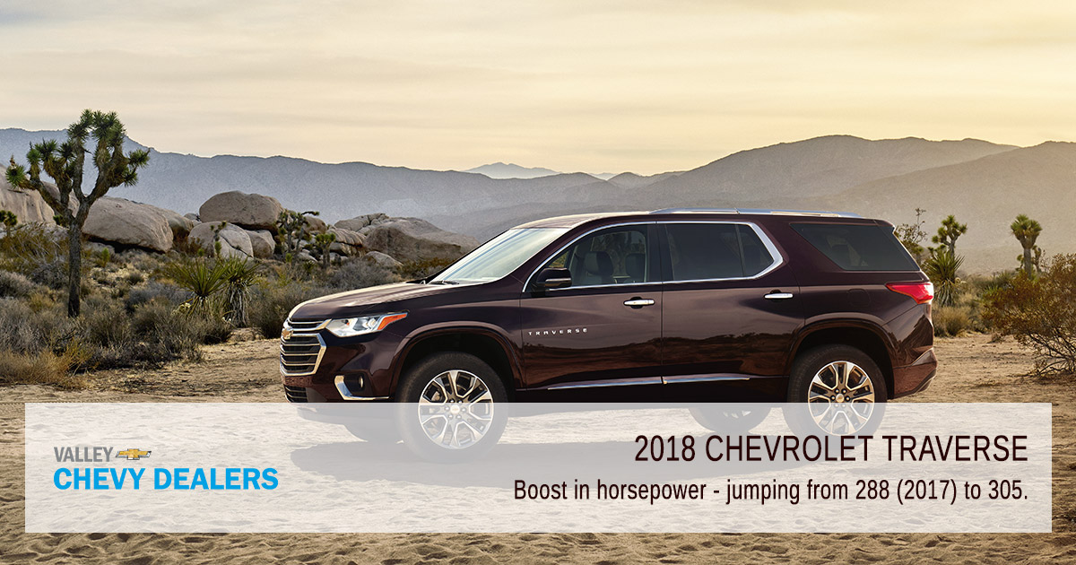Valley Chevy Phoenix - 2018 Chevrolet Traverse MPG & Fuel Efficiency: Engine V6