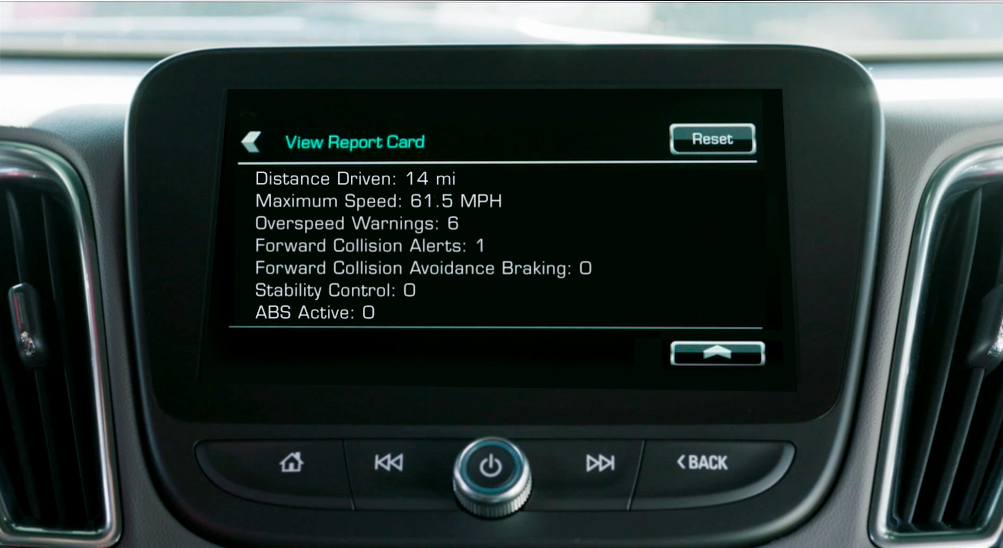 Valley Chevy - Teen Driver Software Put to Test Report Card