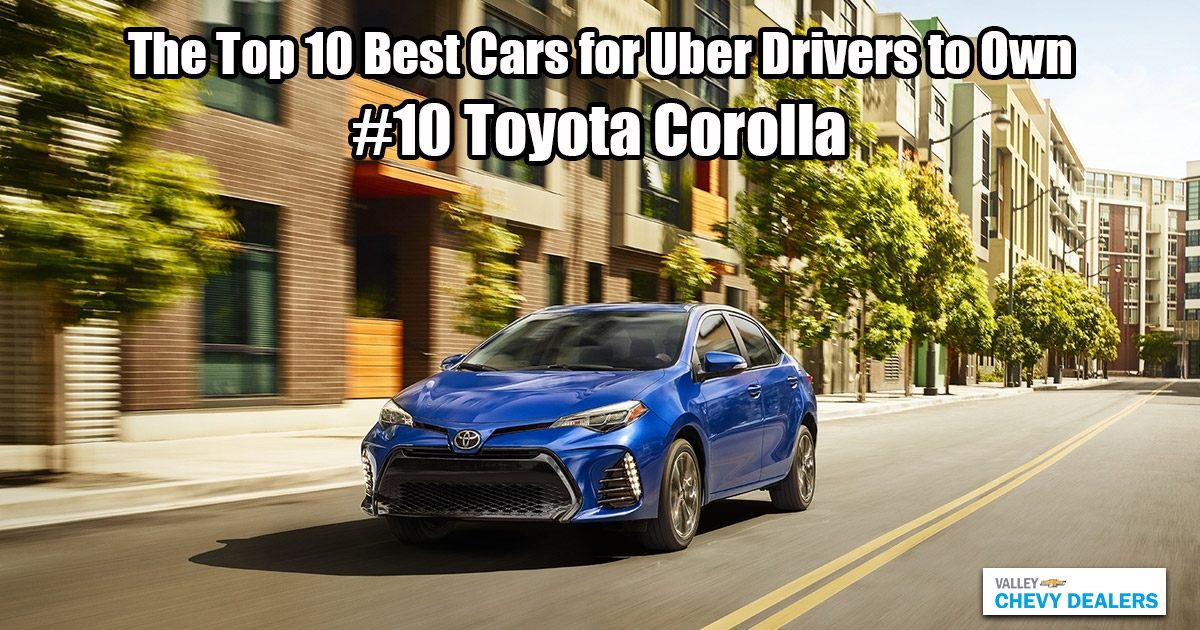 Valley Phoenix Chevy - 10 Best Cars for Uber Drivers to Own: Toyota Corolla