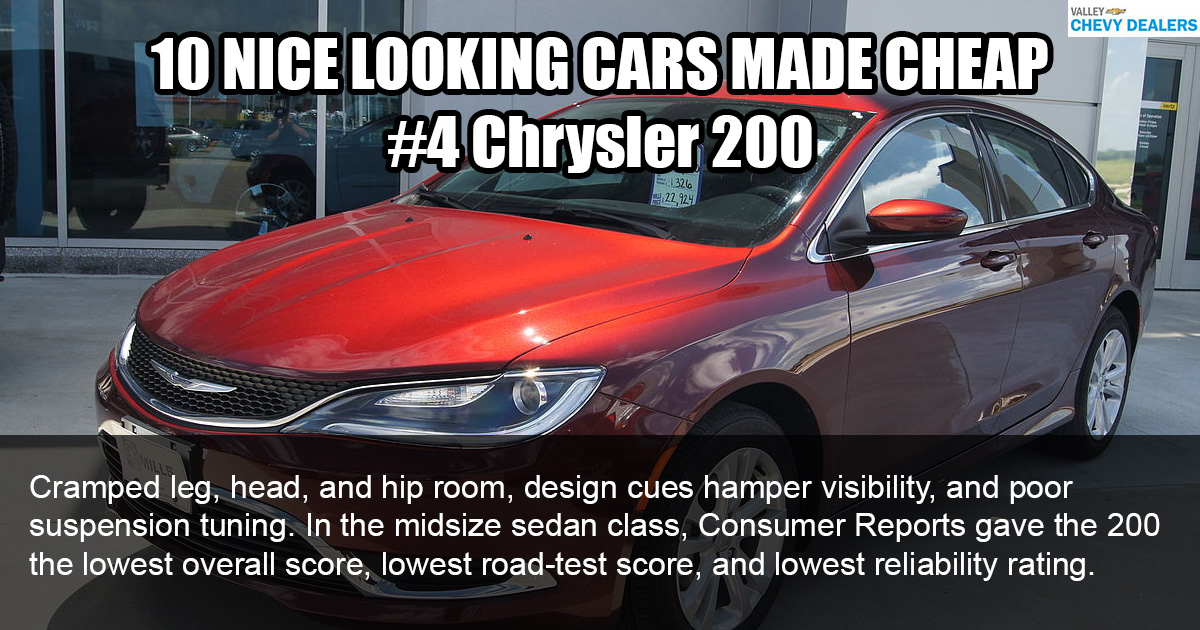 Valley Chevy - 10 Nice Looking Cars Made Cheaply: 2017 Chrysler 200