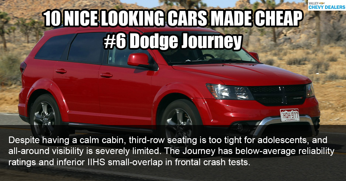 Valley Chevy - 10 Nice Looking Cars Made Cheaply: 2017 Dodge Journey