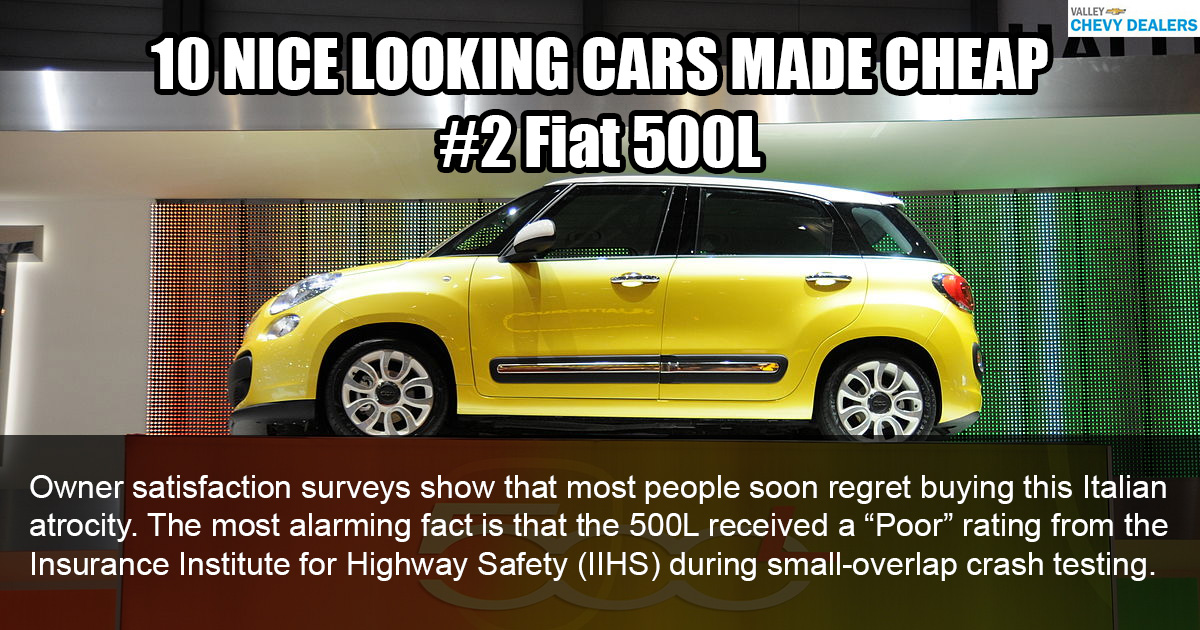 Valley Chevy - 10 Nice Looking Cars Made Cheaply: 2017 Fiat 500L