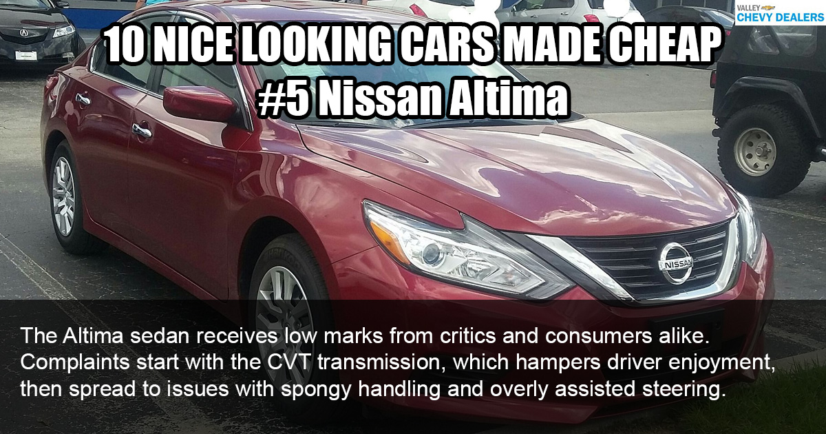 Valley Chevy - 10 Nice Looking Cars Made Cheaply: 2017 Nissan Altima